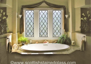 Colorado Springs Bathroom Stained Glass