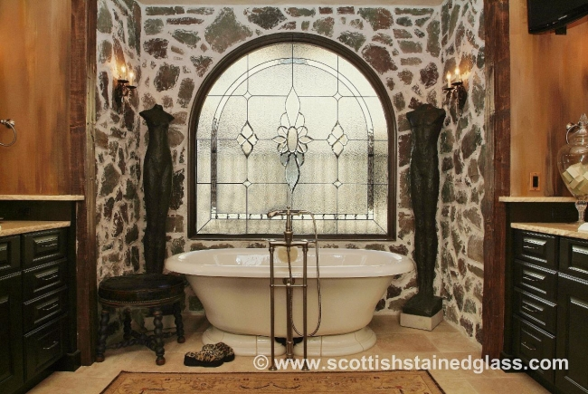 bathroom stained glass window monument