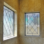 colorado springs custom stained glass bathroom